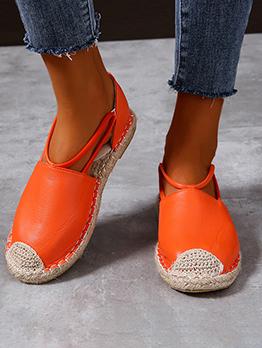 Patchwork Contrast Color Casual Flat Sandals