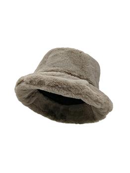 Fashion Solid Thick Plush Bucket Hat
