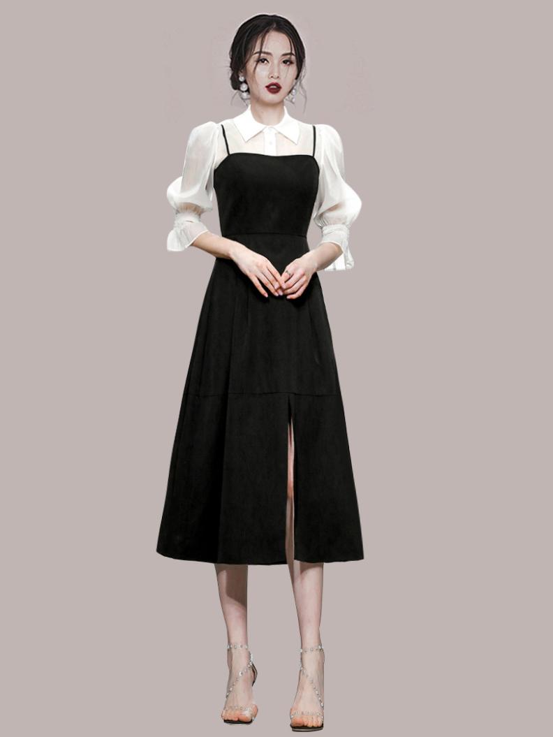 New Arrival White Blouse 2 Piece Dress Set