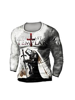 New Letter Print Crew Neck T Shirt