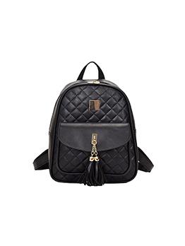 Travel Fashion Rhombus Lattice Backpack Sets Bag