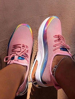 Casual Breathable Contrast Color Sneaker Women