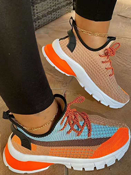 Exercise Contrast Color Sneakers For Women