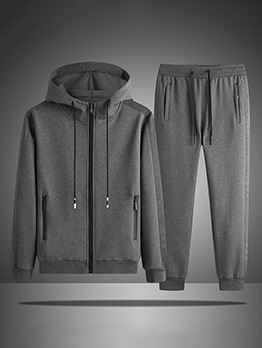 Casual Autumn Ankle Banded Pants Activewear Set