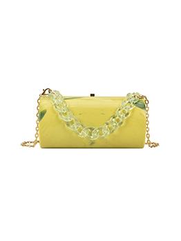 Acrylic Cylindrical Hardness Chain Shoulder Handbag For Women