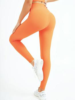 Outdoor Solid Fitness Leggings For Women