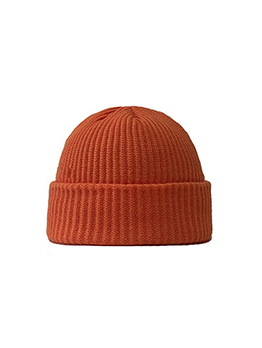 Korean Style Solid Color Easy Match Beanie