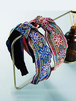 National Style Print Knot Cloth Hair Hoop