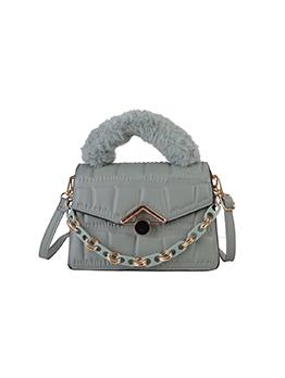 Vintage New Arrival Fur Handle Shoulder Handbag