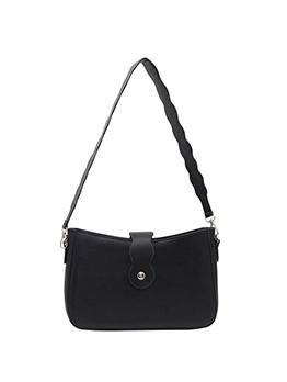 Casual Solid Hasp Zipper Shoulder Bag For Women