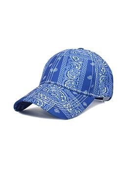 Casual Paisley Printed Baseball Cap For Unisex