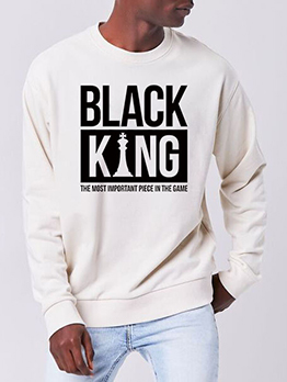 Casual Long Sleeve Letter Oversized Sweatshirt