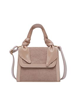 Trendy Pure Color Shoulder Handbag For Women