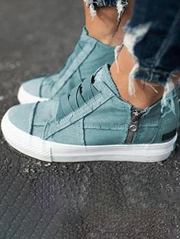 Casual Zipper Round Toe Canvas Sneaker News