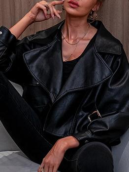 Trendy Cool Street Women Pu Leather Jacket