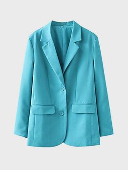 OL Style Solid Notch Collar Women Blazer