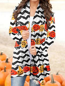Halloween Elements Fashion Long Sleeve Cardigan