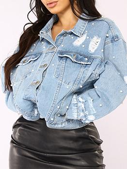 Casual Stylish Versatile Fashion Denim Jacket
