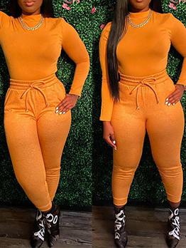 Fashion Skinny Long Sleeve Pants Set