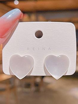 Heart Shape Solid Cute Earring For Ladies