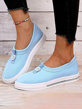 Simple Solid Breathable Slip On Shoes