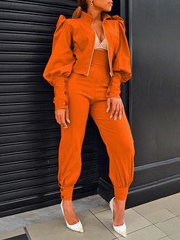 Fashion Personality Design Two Pieces Trouser Set