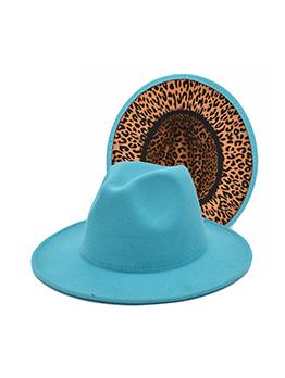 British Style Leopard Unisex Fedora Hat
