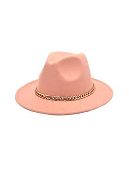 New Arrival Chain Unisex Felt Fedora Hat