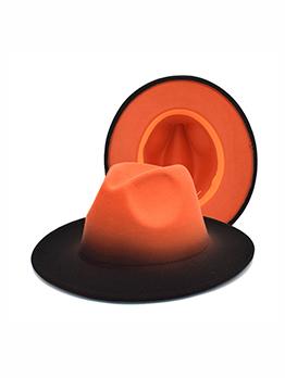 Gentle Gradient Color Sun-Prof Fedora Hat