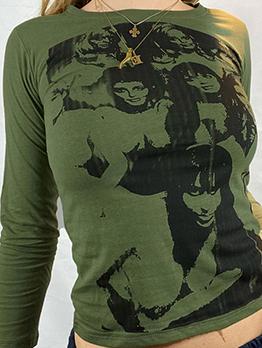 Printed Autumn Casual Stylish Long Sleeve T-Shirt