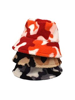 Tie Dye Print Winter Warmth Thicker Bucket Hat