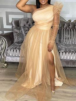 Big Pendulum Gauze Plus Size Maxi Dresses
