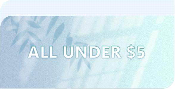 under $5