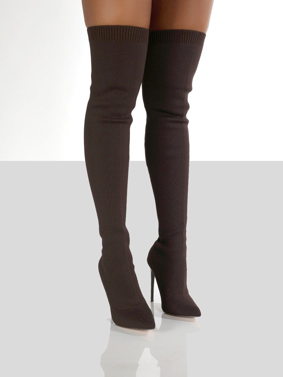 Fashionable Solid Thin Heels Over The Knee Boots