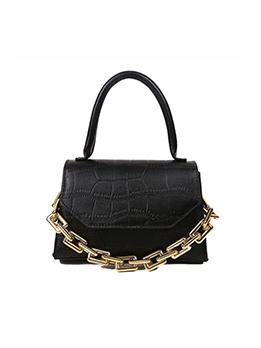 Trendy Chain Hasp Shoulder Handbag For Women