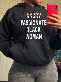 Easy Matching Letter Long Sleeve Sweatshirts