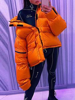 Winter Trendy Zipper Short Coat For Women