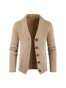 Versatile Solid Casual Men Winter Cardigan Sweater