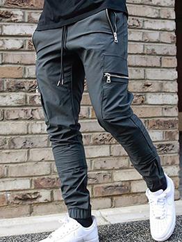 Trendy Street Casual Mid Waist Cargo Long Pants