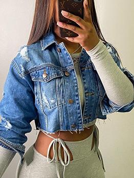Fashion Casual Street Versatile Denim Jacket