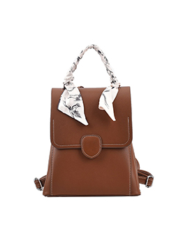 British Preppy Style Scarf Backpack Bag For Women
