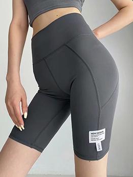 Sporty Yoga Patchwork High Waist Legging Short Pant