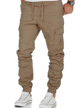 Casual Fashion Versatile Solid Men Long Pants