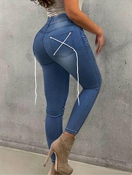 Popular Bandage Design Jeans For Women