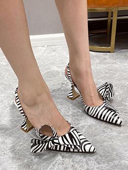 Fashion Animal Print Point Toe High Heels
