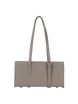 Fashion Elegant Solid Width Zipper Shoulder Tote Bag