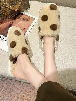 Sweet Dot Homewear Round Toe Mules Shoes