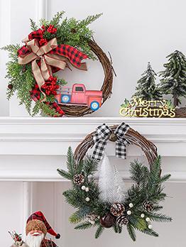 Popular Christmas Deadwood Circle Window Decorate