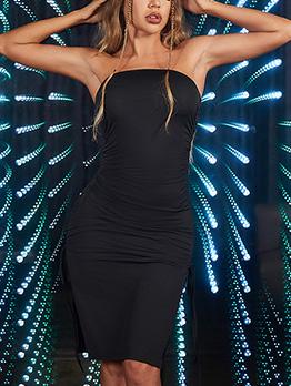 Sexy Sheath Off Shoulder Black Strapless Dresses