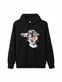 Designer White Female Head Avatar Sweatshirts